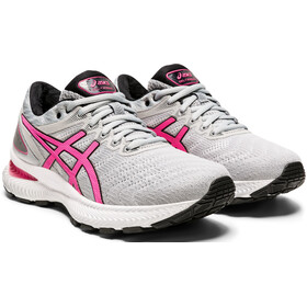 asics Gel-Nimbus 22 Shoes Women piedmont grey/hot pink